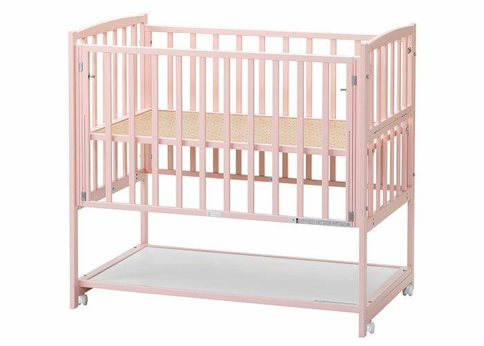 ベビーベッド ピンク